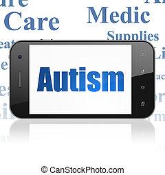 Medicine concept: Smartphone with Autism on display
