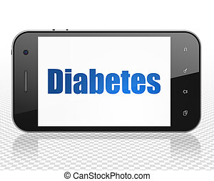 Medicine concept: Smartphone with Diabetes on display