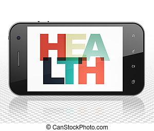 Medicine concept: Smartphone with Health on display