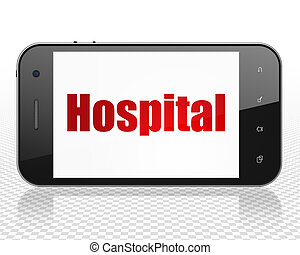 Medicine concept: Smartphone with Hospital on display