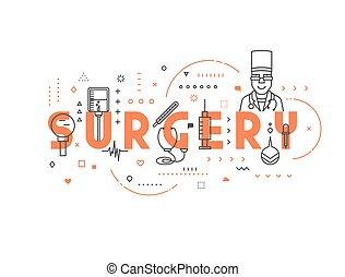 Medicine concept surgery. Creative design elements for...