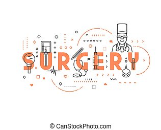Medicine concept surgery. Creative design elements for...