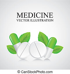 medicine design over gray background vector illustration