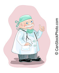 Medicine doctor - Optimistic doctor in smock with...