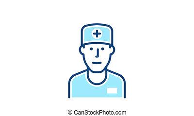 Medicine doctor line icon