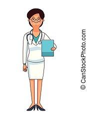 medicine doctor woman cartoon