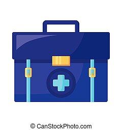 medicine drug kit isolated icon