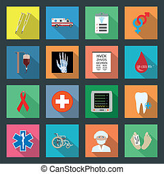 Medicine flat icons set 2