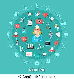Medicine Flat Round Composition