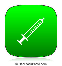 medicine green icon for web and mobile app