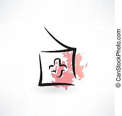 medicine grunge icon