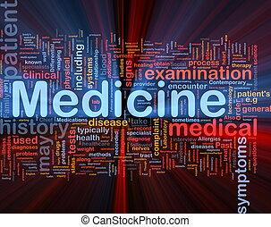 Medicine health background concept glowing