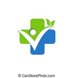 medicine health logo, medical plus symbol icon vector design
