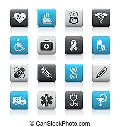 Medicine & Heath Care / Matte - Matte buttons set for your...