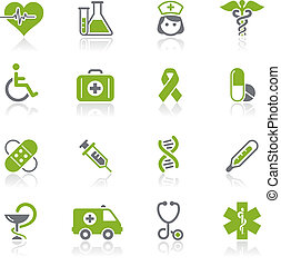 Medicine & Heath Care / Natura - Vector icons for your ...