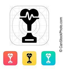 Medicine icon on white background.