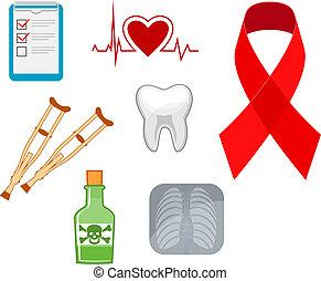 Medicine icons and symbols