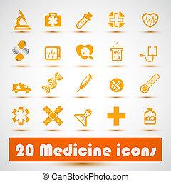Medicine icons.