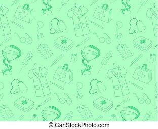 Medicine icons pattern. - Healthcare medical background....