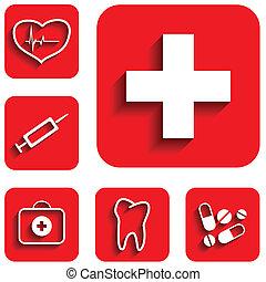 Medicine icons set