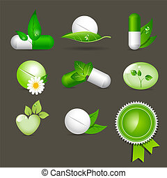 medicine icons - Vector medicine icon set