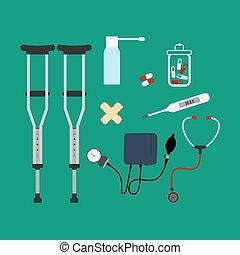 Medicine illustration set