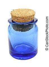 Isolated antique medicine jar
