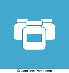 Medicine jars icon, simple