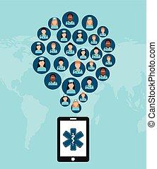 medicine on line design, vector illustration eps10 graphic