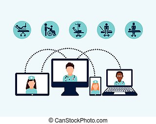 medicine online design, vector illustration eps10 graphic