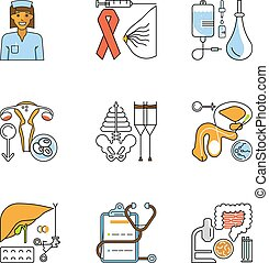 Medical symbols isolated