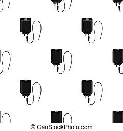 Medicine package.Medicine single icon in black style bitmap,...