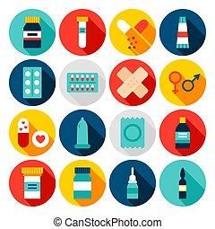 Medicine Pharmacy Flat Icons