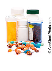 Medicine pills close up shot for background