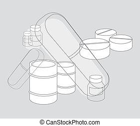 Medicine pills / Pharmaceutic Industry supplies