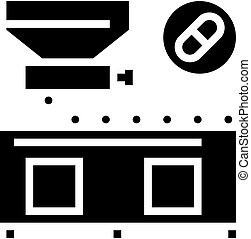 medicine production glyph icon vector black illustration