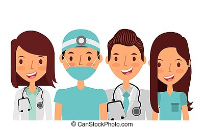 medicine professional people over white background. colorful...