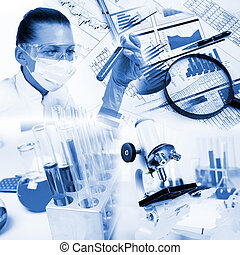 Medicine science and business collage - Image of a doctor ...