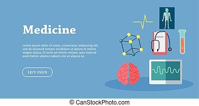 Medicine Science Banner. Health Care. Vector - Medicine...