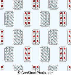 Medicine seamless pattern. Vector illustration for design