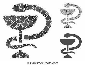 Medicine snake emblem Composition Icon of Tremulant Items