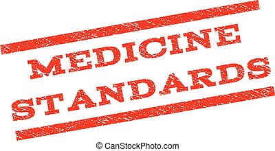 Medicine Standards Watermark Stamp