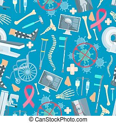 Medicine surgery health vector seamless pattern