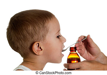Medicine syrup - Medicine liquid syrup for flu and cold...