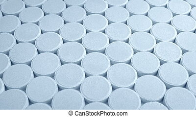 Medicine Tablets In Mass Production - Many medicine tablets...