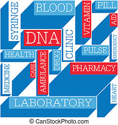Medicine themed seamless background, vector