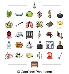 , medicine, tourism, entertainment and other web icon in cartoon style.drawers, furniture, leisure,icons in set collection.