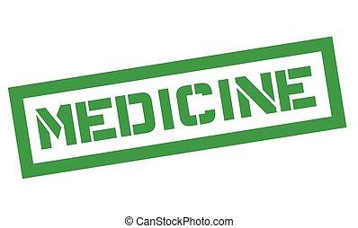 Medicine typographic stamp