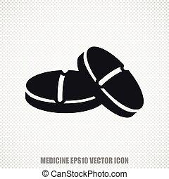 Medicine vector Pills icon. Modern flat design.