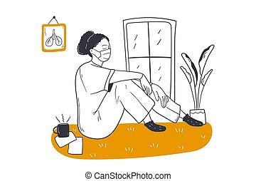 Medicine work, anxiety, fatigue concept